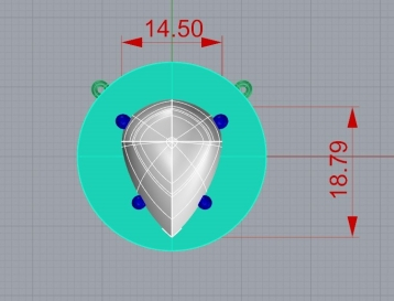 disc necklace cad drawing